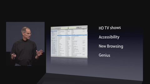 New Features in iTunes 8, including Accessibility