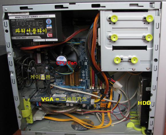 컴퓨터 본체내부
