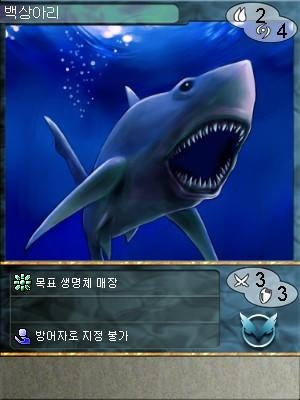 이터널 드림 카드설정 - 백상아리