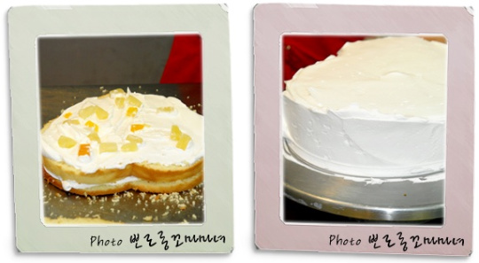 여자 친구를 위한 케이크 만들기
