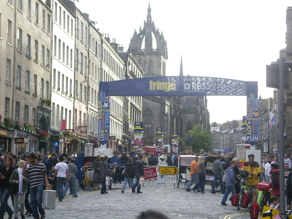 Royal Mile, Edinburgh, in Fringe Festival