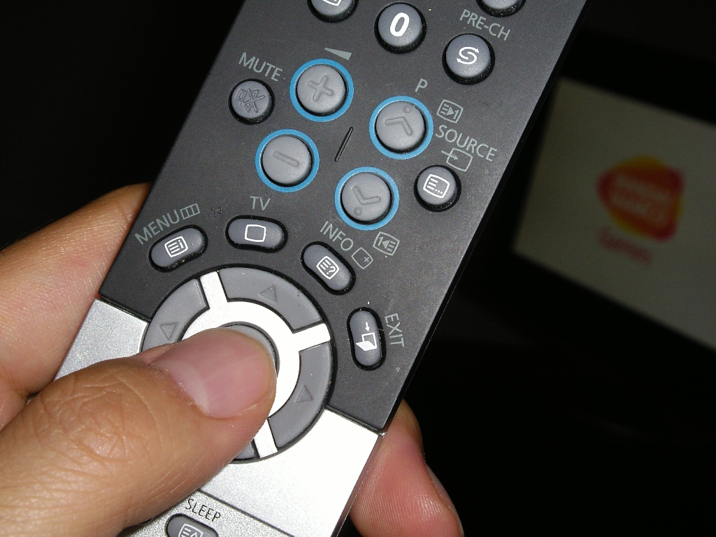 TV remote controller with UK mental model