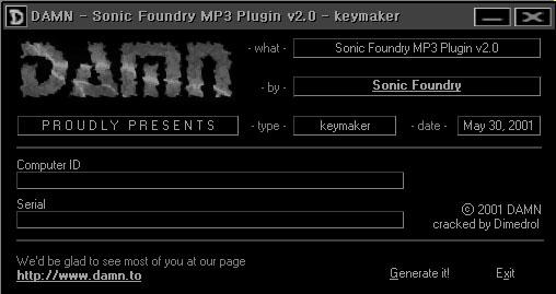 sonic foundry mp3 plugin 2.0 crack