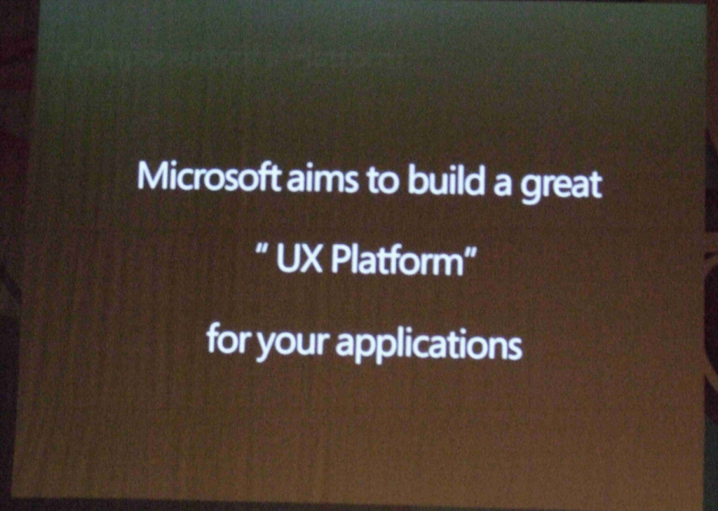 microsoft aims to build a great UX Platform