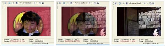 자동으로 디졸브로 전환되는 사진의 모습