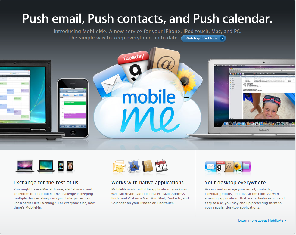 Apple MobileMe - Features