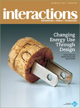 "Interactions July-August 2008, ACM, featuring ""Changing Energy Use Through Design"""