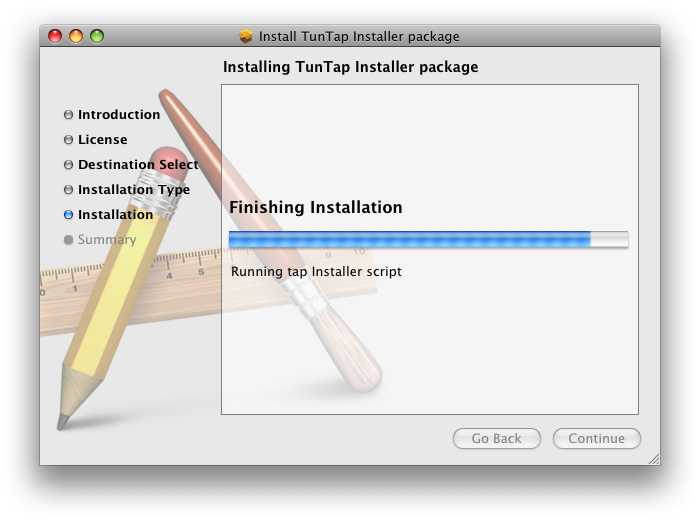 Installing the TunTap package