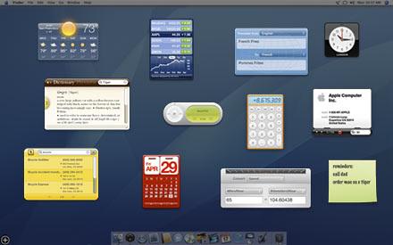 Mac OS X  데쉬보드
