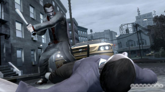 GTA4 Screenshot - How to use a bat