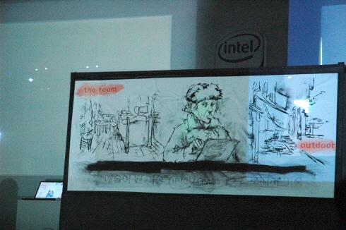 인텔 센트리노2 프로세서 기술 출시 발표회 김진규 드로잉쇼