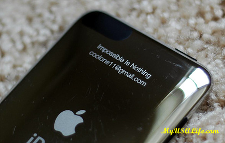 engraving on iPod Touch
